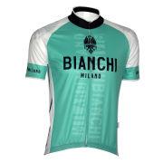 Bianchi Edoardo1 Short Sleeve Jersey - Celeste/White