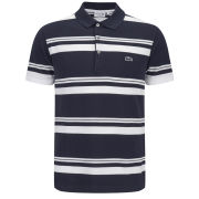 Lacoste Men's 'Made in France' Polo Shirt - Navy White