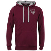 Ringspun Men's Overall Quilted Hoody - Burgundy