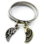 Silver Service Wings Ring