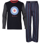 Ben Sherman Boys' Pyjama Set - Navy/Red