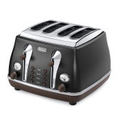 De'Longhi Icona Vintage 4 Slice Toaster - Matt Black