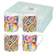 Collier Campbell Kandi and Quicksilver Set of 4 Large Mugs