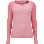 Maison Scotch Women's Crew Neck Jumper - Hawaii Pink Mel