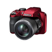 Fujifilm FinePix S9200 Bridge Camera (16MP, 50x Optical Zoom, CMOS Sensor) - Red