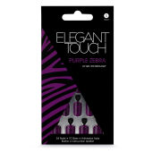 Elegant Touch Design Nails - Purple Zebra