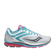 Saucony Women's Cortana 3 Running Shoe - White/Blue/Pink