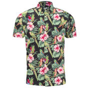 Weekend Offender Men's Kempes Parrot Shirt - Black