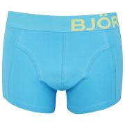 Bjorn Borg Seasonal Solids Men's Mid Tones Boxer Shorts - Blue Atoll
