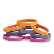 Nike Sport Hairbands 9 Pack - Pink Glow/Iron Purple/Atomic Mango