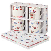 Alex Clark Lovebirds Set of 4 Mugs