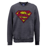 DC Comics Sweatshirt - Superman Shatter Logo - Steel Grey