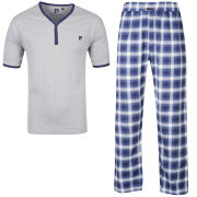 Pierre Cardin Men's Checkered Loungewear - Navy