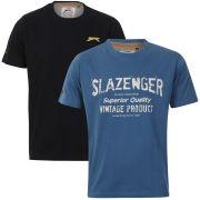 Slazenger Men's 2-Pack T-Shirts - Airforce/Navy