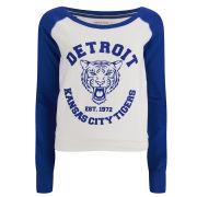 Brave Soul Women's Detroit Tigers Sweatshirt - Cobalt