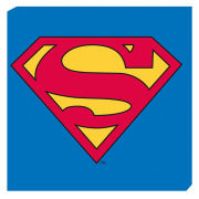 Superman Logo - 40 x 40cm Value Canvas