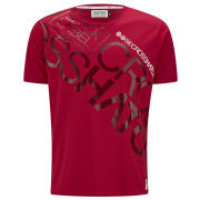Crosshatch Men's Laydown T-Shirt - Red
