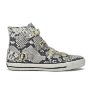 Ash Women's Virginia Snake Leather Hi-Top Trainers - Roccia
