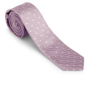 French Connection Men's Elliot Spot Silk Tie - Strawberry Bon Bon
