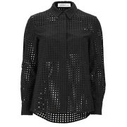 Victoria Beckham Women's Basic Lace Shirt - Black