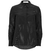 Victoria Beckham Women's Basic Lace Shirt - Black