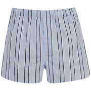 Derek Rose Men's Mayfair 65 Modern Fit Boxers - Blue