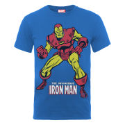 Marvel Iron Man Pose Men's T-Shirt - Blue