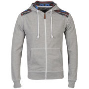 Conspiracy Men's Brett Zip Through Hoody - Grey Marl