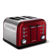 Morphy Richards New Accents 4 Slice Toaster - Red