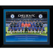 Chelsea Team Poster 14/15 - Framed Photographic - 16x12