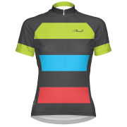 Primal Women's Bold Short Sleeve Jersey - Grey/Green/Blue/Pink