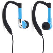 iHip Active Sports Earphones with Mic and Remote - Blue