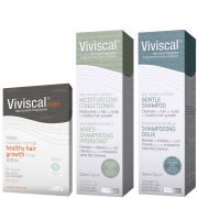 Viviscal Man Hair Growth Supplements 60s, Shampoo 200ml & Conditioner 200ml (Bundle)