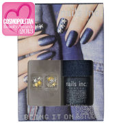 nails inc. Bling It On Denim & Studs