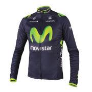 Movistar Team Replica Long Sleeved Jersey - Blue 2014
