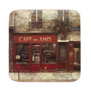 Set of 4 Cafe Scene Coasters