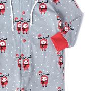 Text Santa Boys' Rudy Christmas Onesie - Grey