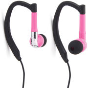 iHip Active Sports Earphones with Mic and Remote - Pink