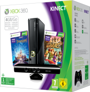 Xbox 360 4GB Kinect Holiday Bundle (Includes Kinect Adventures  Kinect Disney Land Adventures  1 Month Xbox Live)