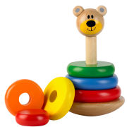 Tidlo Wooden Wobbly Bear Stacker