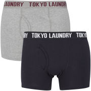 Tokyo Laundry Men's Mount Choovio 2-Pack Boxers - Navy/Grey Marl
