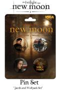 Twilight New Moon - Pin Set Of 4 - Jacob And Wolf Pack Set