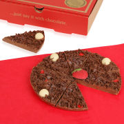 Strawberry and Champagne Chocolate Pizza - 7 Inch