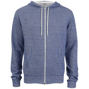 Brave Soul Men's Isaac Hooded Zip Through - Denim Marl
