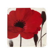Set of 4 Red Poppies Coasters