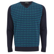 John Smedley Men's Parallel V-Neck Jumper - Midnight