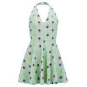 LOVE Women's Palm Print Dress - Mint