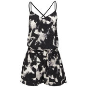 ONLY Women's Valentina Playsuit - Black/White