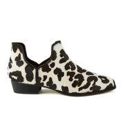 Senso Women's Blake X Leopard Print Pony Ankle Boots - Chalk