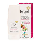 A'Kin Rose and Geranium Pure Creamy Cleanser and Toner in One (225ml)